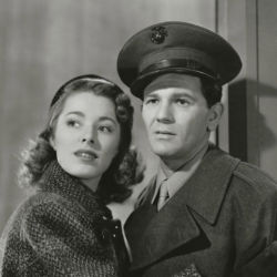 John Garfield with Eleanor Parker (Pride Of The Marines 1945)