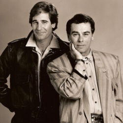 Dean Stockwell with Scott Bakula in Quantum Leap