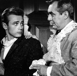 Jim Backus with James Dean in Rebel Without A Cause 1955
