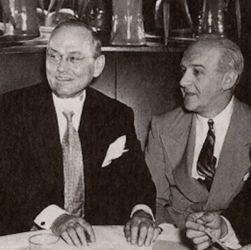 Damon Runyon (L) with Walter Winchell at The Stork Club