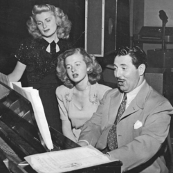 Shirley Mitchell (L) with Louise Erickson and Harold Peary (The Great Gildersleeve)