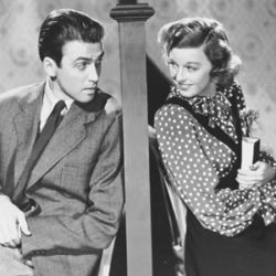 Jimmy Stewart and Margaret Sullavan in Shop Around The Corner 1940