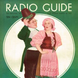 St. Patrick's Day 1937 Issue Radio Guide Magazine with Fibber McGee & Molly
