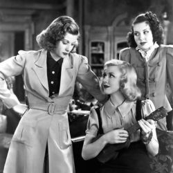 Gingers Rogers (Center) with Lucille Ball and Ann Miller in Stage Door