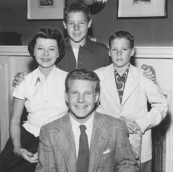 The Nelson Family - Ozzie, Harriet, David, Ricky in 1952