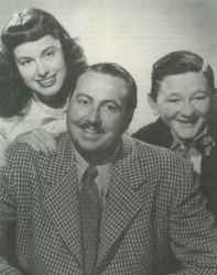 Willard Waterman (Gildy) with Marylee Robb (Marjorie) & Walter Tetley (Leroy)