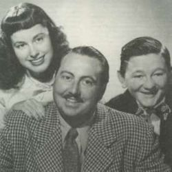 Mary Lee Robb with Willard Waterman and Walter Tetley (in The Great Gildersleeve)