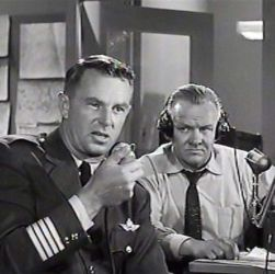 Larry Thor (R) with Sterling Hayden (Zero Hour 1957)