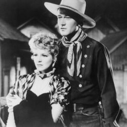 Claire Trevor with John Wayne in Stagecoach 1939