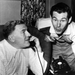 William Bendix (The Life Of Riley) with Johnny Carson 1955