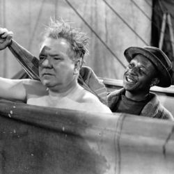 """Eddie """"Rochester"""" Anderson with W.C. Fields in You Can't Cheat An Honest Man 1939"""
