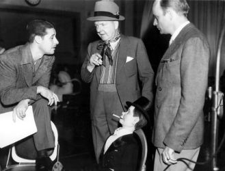 W.c. Fields with Don Ameche (L) and Edgar Bergen