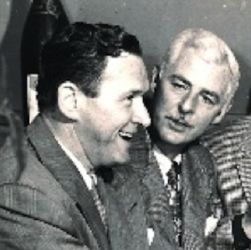 Bill Johnstone (R) with pal Wally Maher