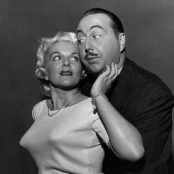 Willard Waterman with Stephanie Griffin (1955 TV version of The Great Gildersleeve)