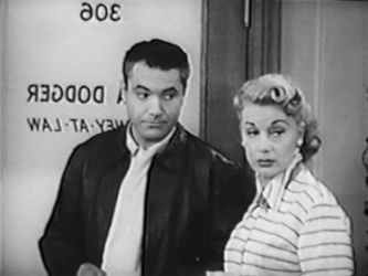 Whitfield Connor and June Havoc in Willy TV Series 1954-55