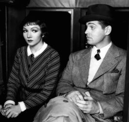Claudette Colbert with Clark Gable in It Happened One Night 1934