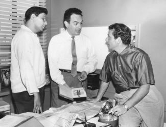 Elliott Lewis (Center) with Morton Fine and David Friedkin