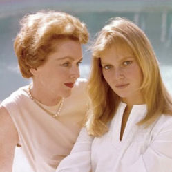 Maureen O'Sullivan and daughter, Mia Farrow