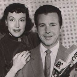 Virginia Gregg with Dick Powell (Richard Diamond, Private Detective)